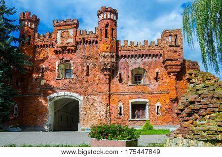 Brest Fortress Gate at summer. Brest city, Belarus.