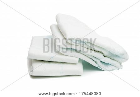 diapers Absorbent, Pampers isolated on white background