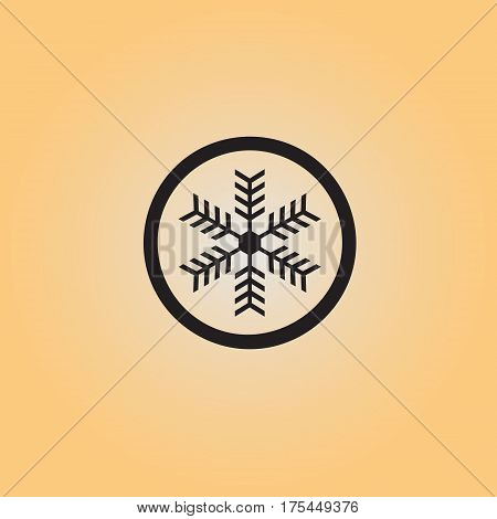 Snowflake flat vector icon. Isolated frost proof vector sign. Snowflake symbol  vector illustration.