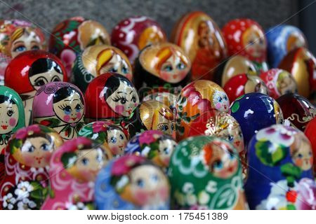 Matryoshka, Women Concepts, Russian Typical Doll Background