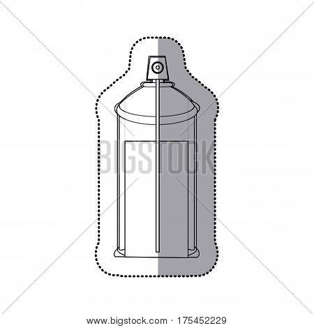 sticker contour internal view aerosol spray bottle can icon vector illustration