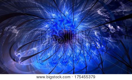 Colorful salute. Sheaf sparks. Supernova explosion. 3D surreal illustration. Sacred geometry. Mysterious psychedelic relaxation pattern. Fractal abstract texture. Digital artwork graphic astrology magic
