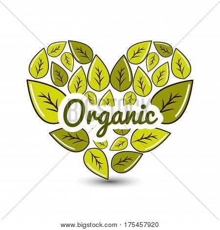 organic food icon stock, vector illustration design