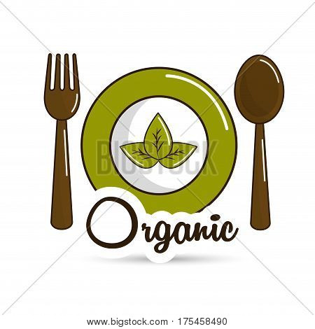 natural food icon stock, vector illustration design image