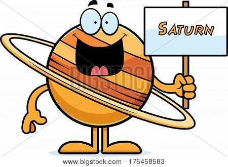 Cartoon Saturn Sign