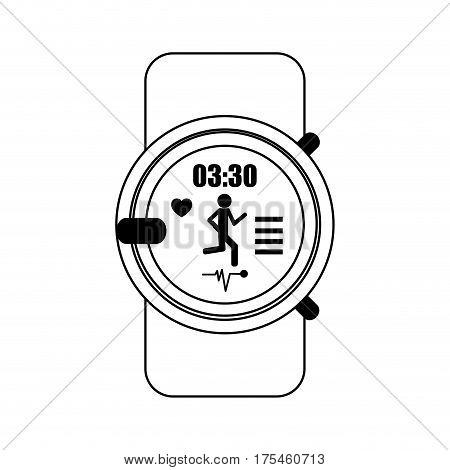 heart rate monitor icon image vector illustration design