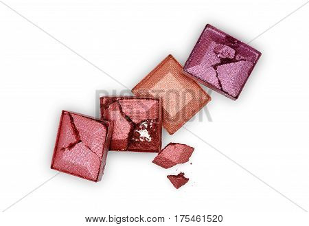 Colored Crashed Eyeshadow For Make Up As Sample Of Cosmetic Product