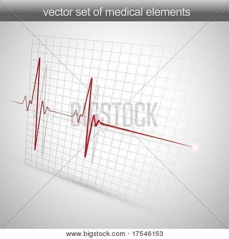 сердце бьется кардиограмма векторные иллюстрации