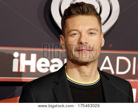 Ryan Seacrest at the 2017 iHeartRadio Music Awards held at the Forum in Inglewood, USA on March 5, 2017.