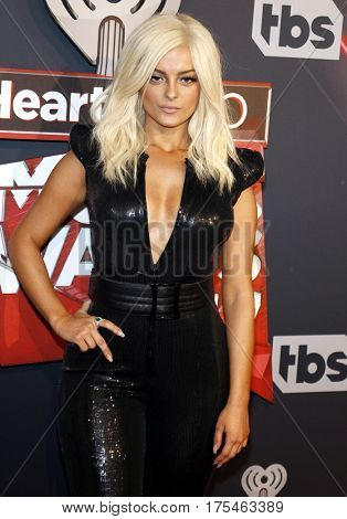 Bebe Rexha at the 2017 iHeartRadio Music Awards held at the Forum in Inglewood, USA on March 5, 2017.
