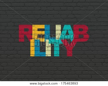 Finance concept: Painted multicolor text Reliability on Black Brick wall background