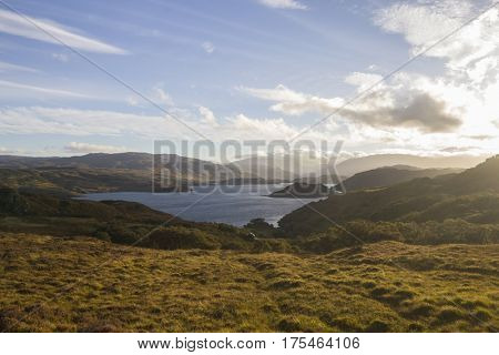 Landscape near Drumbeg, Scottish Highlands