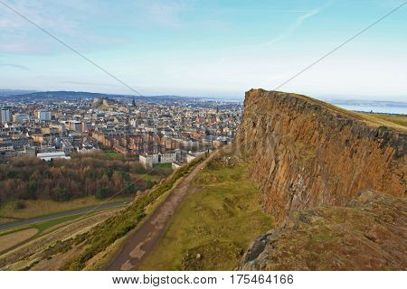 Edinburgh, Scotland, view from Holyrood Park