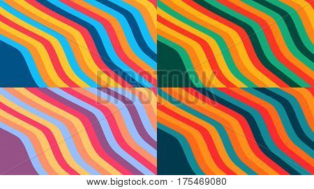 Design colorful background with wavy stripes, vector illustration, eps 10