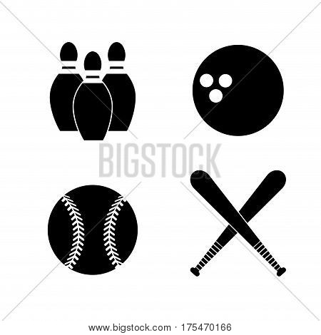 contour diferents plays balls icon, vector illustraction design