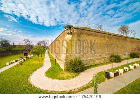 Medieval fortress and historical site in Alba Iulia Transylvania Romania.