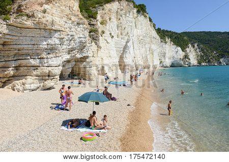 The Coast Of Gargano National Park On Puglia, Italy