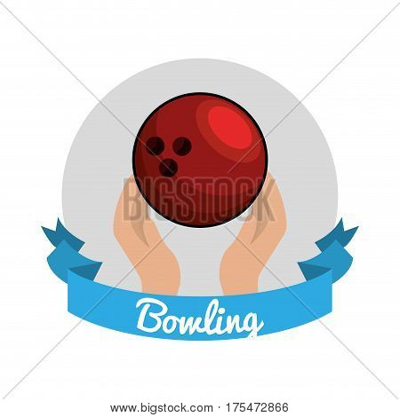 emblem bowling game icon, vector illustraction design image