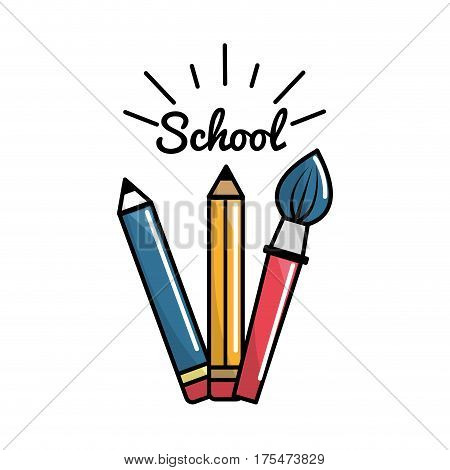 pencil case school tools icon, vector illustraction design