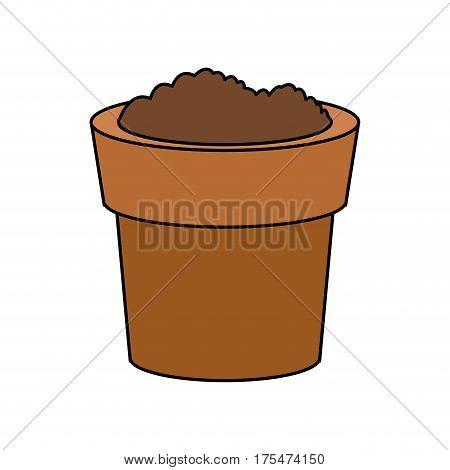 dirt or soil in pot icon image vector illustration design