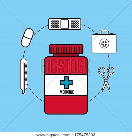 pharmaceutical drugs and surgery icon, vector illustraction design