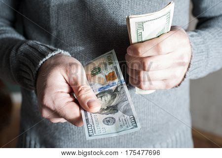 Businessman Giving Money, United States Dollar