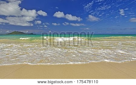 Kailua Bay Beach And Shore Off Kmcas Hawaii
