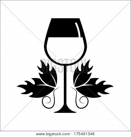 glass of wine icon stock, vector illustration design image
