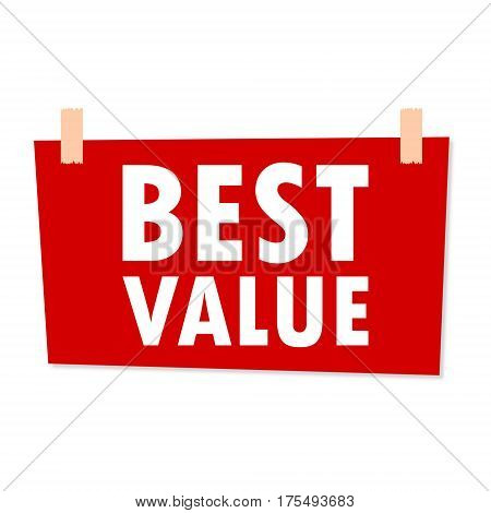 Best Value Sign - illustration on white background