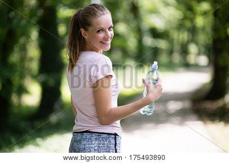 Beautiful Jogging Woman In Nature