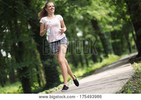 Beautiful Female Jogger