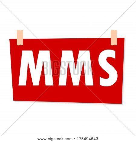 MMS Sign - illustration on white background