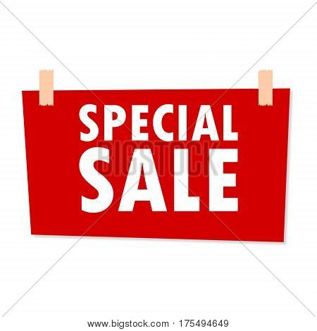 Special Sale Sign - illustration on white background