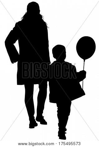 Mother and child on white background