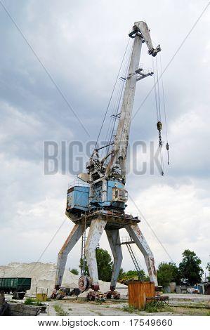 harbour crane working