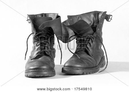 pair of the old boots