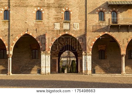 Ducal Palace Facade In The City Of Mantua