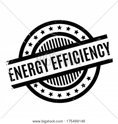 Energy Efficiency rubber stamp. Grunge design with dust scratches. Effects can be easily removed for a clean, crisp look. Color is easily changed.