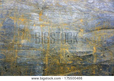 Scratched metal background in detail. Shot Outdoor