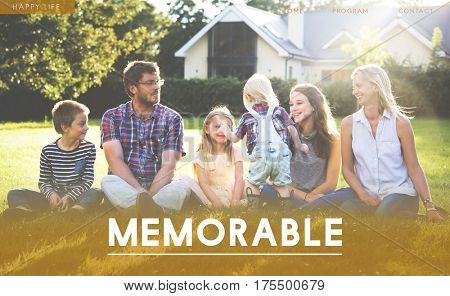 Family Happiness Memorable Outdoors Gradient