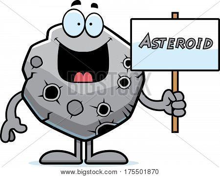 Cartoon Asteroid Sign