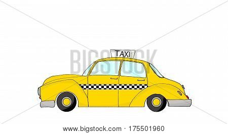 a vintage fantasy yellow cab taxi New York style