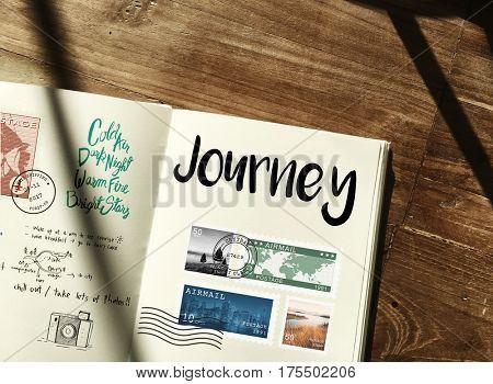 Planning traveling trip notes wanderlust