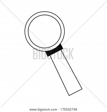 magnifying glass icon over white backgroudn. vector illustration