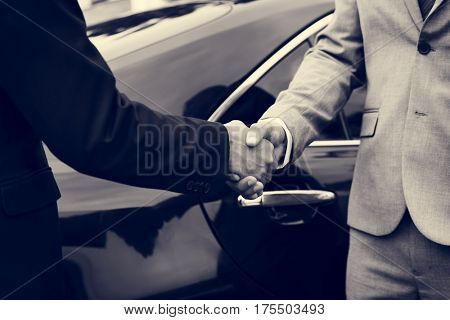 Business Men Agreement Deal Hands Shake