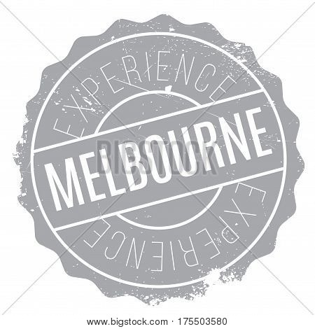 Melbourne rubber stamp. Grunge design with dust scratches. Effects can be easily removed for a clean, crisp look. Color is easily changed.