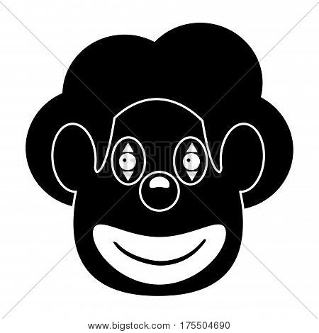 face clown april fool day pictogram vector illustration eps 10