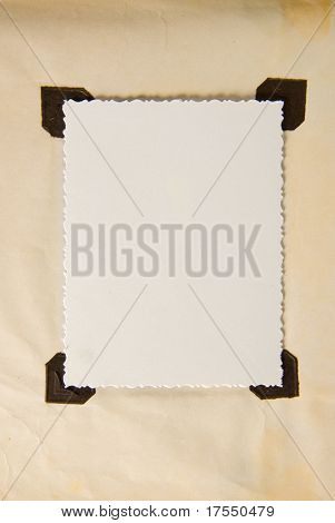 Photoalbum frame ready for design use