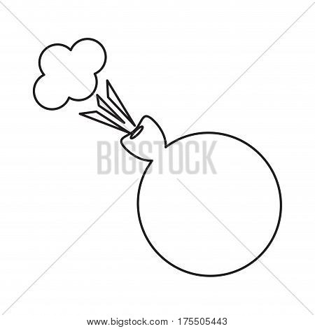 april fool whoopee cushion thin line vector illustration eps 10