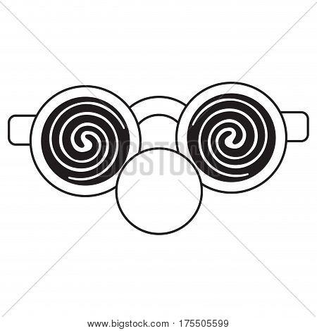 clown glasses and red nose thin line vector illustration eps 10